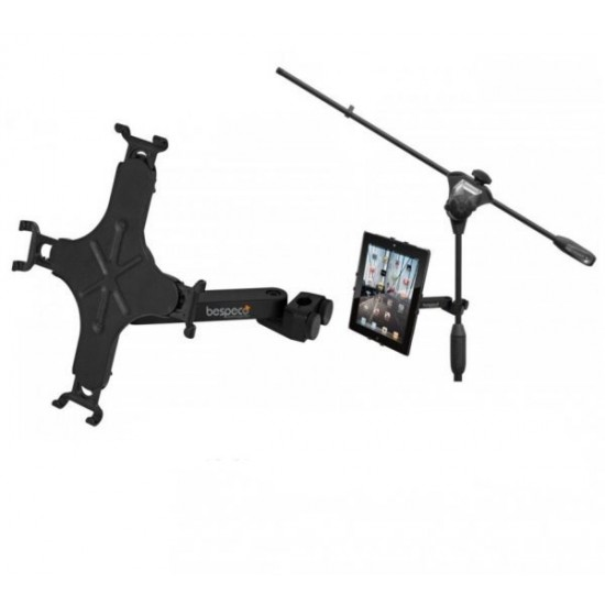 Bespeco TAB100 Tablet Stand with Microphone Stand Attachment