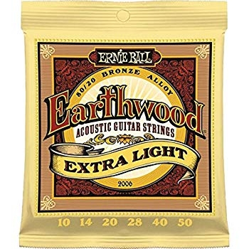 Ernie Ball 2006 Earthwood Extra Light Acoustic Guitar Strings - 10-50