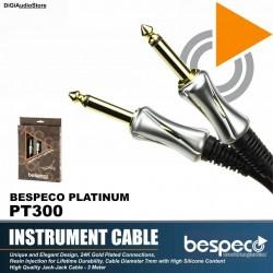 Bespeco PT300 Platinum Guitar Cable 3 M
