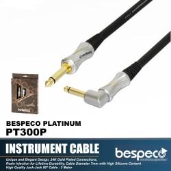 Bespeco PT300P Platinum Guitar Cable Angled 3 M