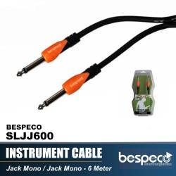 Bespeco SLJJ600 6 M Jack Mono to Jack Mono Instrument Cable