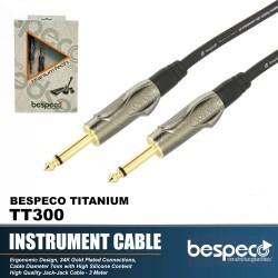 Bespeco TT300 Guitar Cable Titanium Series 3 M