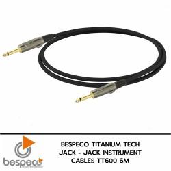 Bespeco TT600 Guitar Cable Titanium Series 6 M