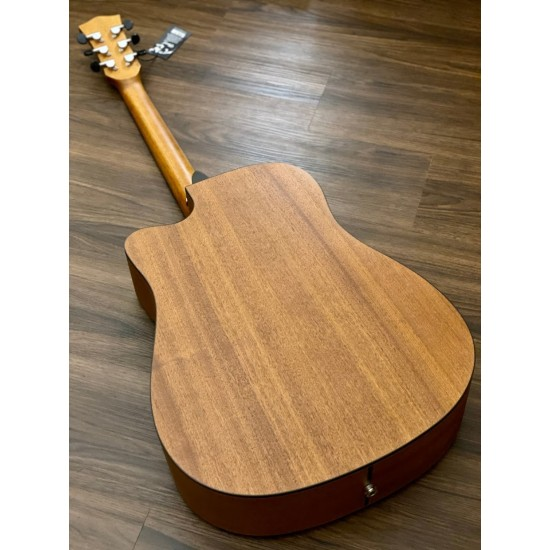 CHARD WD68C ACOUSTIC ELECTRIC IN AGED GREEN WITH FISHMAN PRESYS