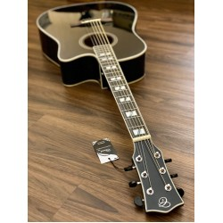 CHARD ED29 BK ACOUSTIC ELECTRIC IN BLACK GLOSS WITH FISHMAN PRESYS PLUS PREAMP