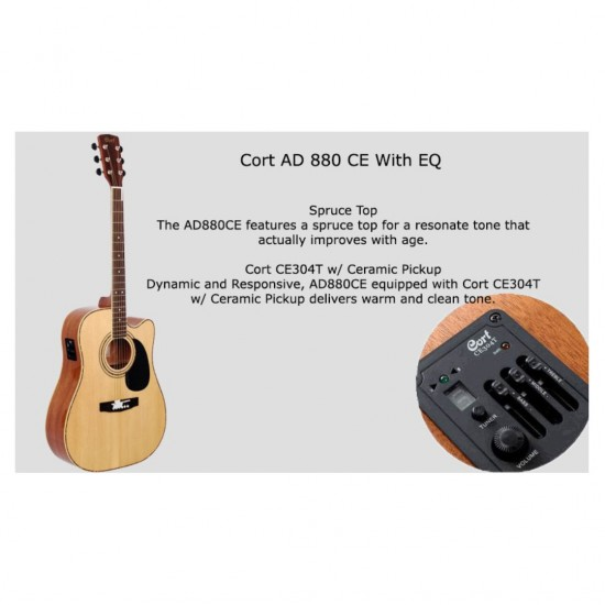 Cort AD880CE NAT Accoustic Electric Guitar