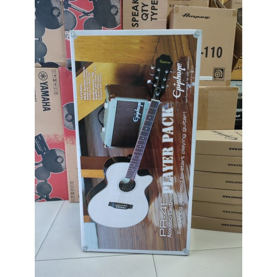 Epiphone PR-4E Player Pack Acoustic Electric Guitar in Natural