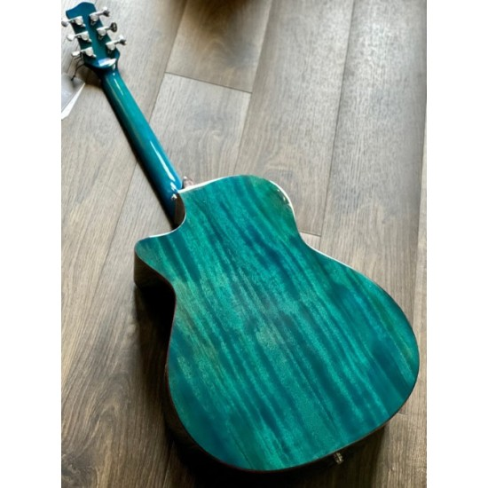 GALATASARAY GT GA10 BL ACOUSTIC ELECTRIC IN TRANSPARENT BLUE