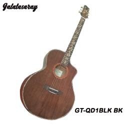 Galatasaray GT-QD1CBLK BK Acoustic Electric Guitar