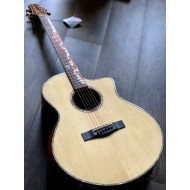 SQOE A8 SK BEVEL CUT FULL SOLID ACOUSTIC ELECTRIC IN NATURAL WITH FISHMAN FLEX PREAMP