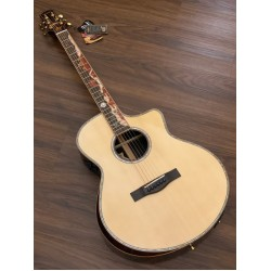 SQOE SPAIN A9 SK BEVEL CUT FULL SOLID ACOUSTIC ELECTRIC IN NATURAL WITH FISHMAN FLEX PREAMP