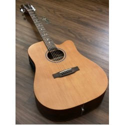 SQOE SPAIN ED90C ACOUSTIC ELECTRIC IN VINTAGE NATURAL SATIN WITH FISHMAN PRESYS PREAMP