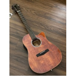 SQOE SPAIN S380 FG ACOUSTIC ELECTRIC GUITAR WITH SOLID TOP IN VINTAGE NATURAL