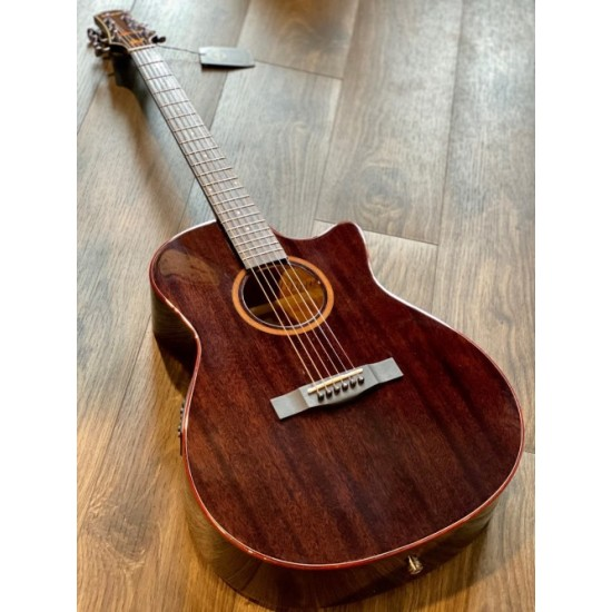 SQOE SPAIN SMLT BK ACOUSTIC ELECTRIC IN TRANSPARENT BLACK WITH FISHMAN PRESYS PLUS PREAMP