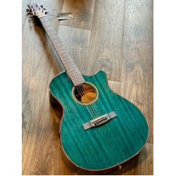 SQOE SPAIN SMLT-BL ACOUSTIC ELECTRIC IN TRANSPARENT BLUE WITH FISHMAN PRESYS PLUS PREAMP