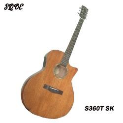 SQOE S360T SK-BK Acoustic Electric Guitar