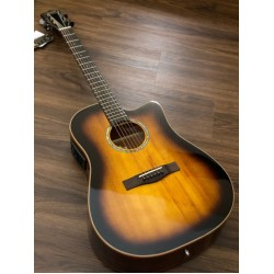 SQOE SPAIN S370 FG ACOUSTIC ELECTRIC GUITAR WITH SOLID TOP IN SUNBURST