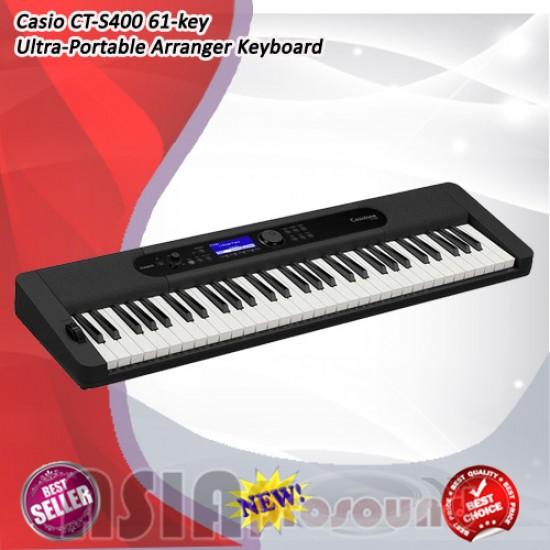Casio CT-S400 61 key Ultra Portable Arranger Keyboard