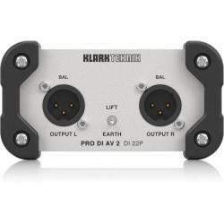 Klark Teknik DI AV 22P 2-channel Passive Direct Box with Midas Transformer